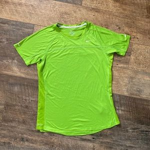 green Nike running top